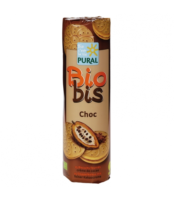 BIO-Doppelkekse mit feiner Kakaocreme - 300g - Pural
