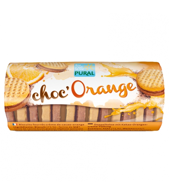 BIO-Doppelkekse mit Kakao und Orange - Choc'Orange - 85g - Pural