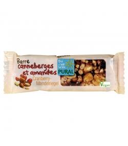 Barre croquante aux canneberges & amandes BIO - 25g - Pural