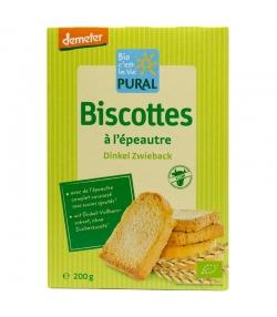 Biscottes à l'épeautre BIO - 200g - Pural