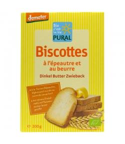 Biscottes à l'épeautre & au beurre BIO - 200g - Pural