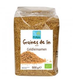 Graines de lin dorées BIO - 500g - Pural