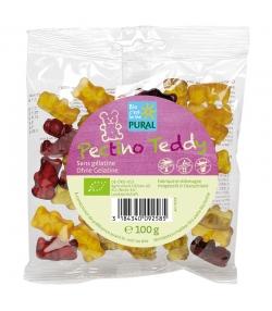 Bonbons oursons aux fruits BIO sans gélatine - Pectino Teddy - 100g - Pural