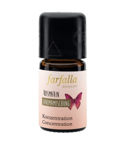 Synergie d'huiles essentielles Concentration romarin - 5ml - Farfalla