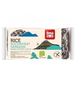 Galettes de riz sarrasin au chocolat noir & noix de coco BIO - 90g - Lima