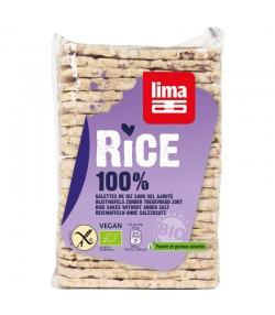 BIO-Reiswaffeln Vollkorn rechteckig ohne Salzzusatz - 130g - Lima