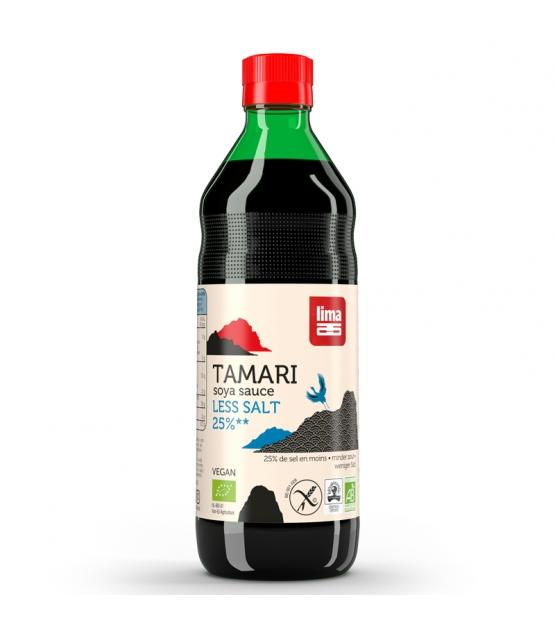 Sauce de soja avec 25% de sel en moins BIO - Tamari - 500ml - Lima