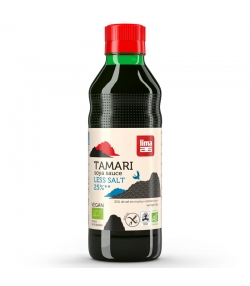 BIO-Sojasauce mit 25% weniger Salz - Tamari - 250ml - Lima