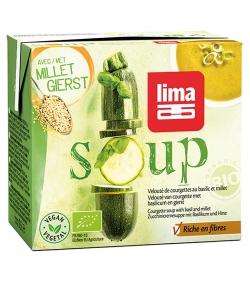 Velouté de courgettes au basilic & millet BIO - Soup - 500ml - Lima