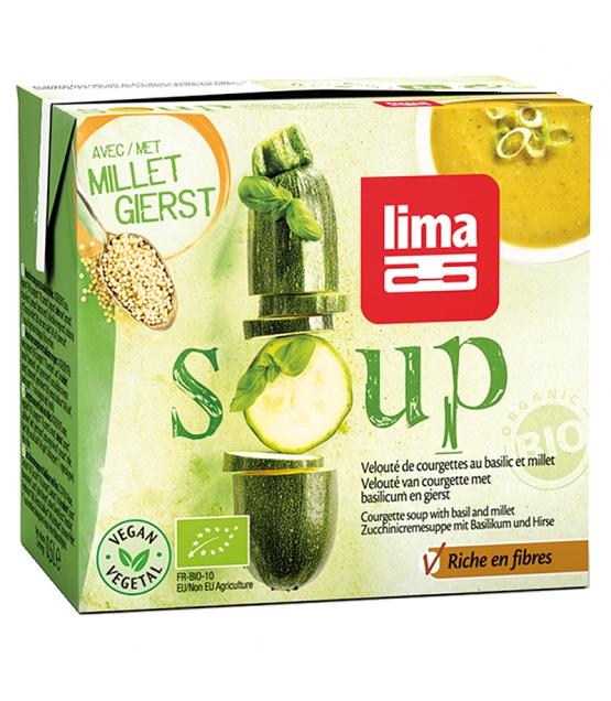 BIO-Zucchinicremesuppe mit Basilikum & Hirse - Soup - 500ml - Lima