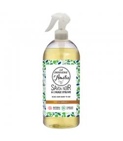 Savon noir prêt à l'emploi en spray écologique olive & lin - 500ml - La droguerie d'Amélie