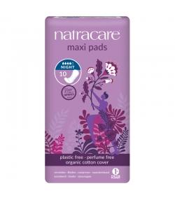 Extra Long BIO-Damenbinden für Nachts & für schwere Blutungen – 10 Stück – Natracare