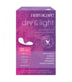 Serviettes hygiéniques BIO dry & light pour légères incontinences – 20 pièces – Natracare