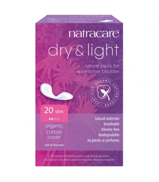 Dry & Light BIO-Damenbinden für leichte Blasenschwäche - 20 Stück - Natracare