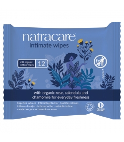 BIO-Intimpflegetücher – 12 Stück – Natracare