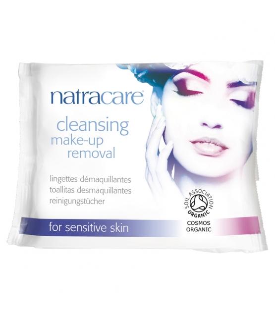 BIO-Reinigungstücher Mandel, Aprikose & Kamille für empfindliche Haut - 20 Stück - Natracare