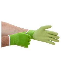 Gants de jardinage Taille L en coton BIO & caoutchouc naturel - 1 paire - Fair Zone