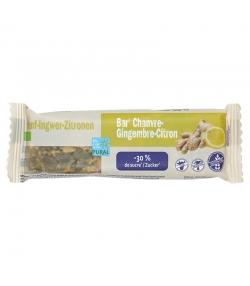 Barre au chanvre, gingembre & citron allégée en sucre BIO - 35g - Pural
