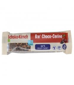Barre au chocolat & cerise allégée en sucre BIO - 35g - Pural
