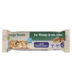 Barre au mélange de noix salées allégée en sucre BIO - 35g - Pural