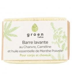 Barre lavante corps & cheveux naturelle chanvre, caméline & menthe poivrée - 100g- Groen labo