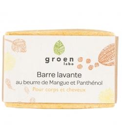Barre lavante corps & cheveux naturelle mangue & panthénol - 100g - Groen labo
