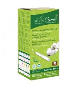 Tampons BIO super avec applicateur en carton pour règles moyennes à fortes - 14 pièces - Silvercare