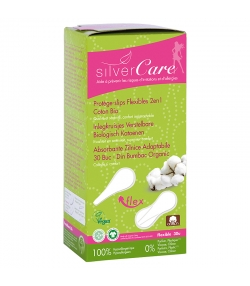 Protège-slips flexible 2 en 1 BIO - 30 pièces - Silvercare