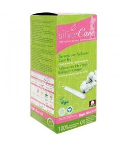 Tampons BIO light avec applicateur en carton pour règles légères - 18 pièces - Silvercare