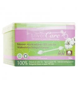 Sicherheitswattestäbchen Baby aus BIO-Baumwolle - 56 Stück - Silvercare