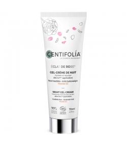 Gel-crème de nuit BIO rose, acide hyaluronique & vitamine C - 70ml - Centifolia Éclat de rose