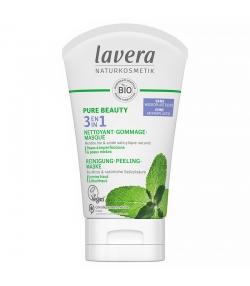 3 en 1 nettoyant, gommage & masque BIO menthe & acide salicylique - 125ml - Lavera Pure Beauty