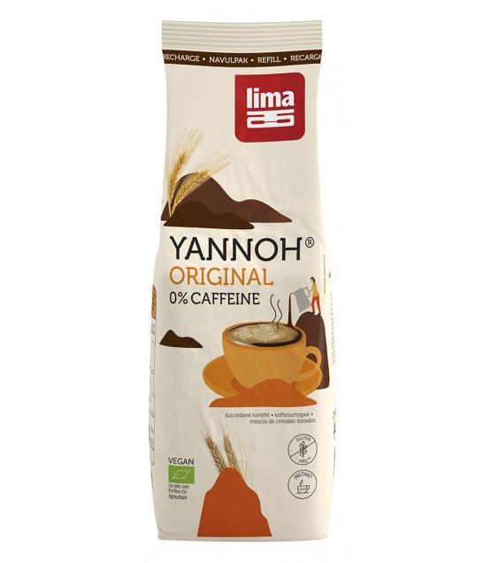 Recharge Boisson chaude à base de céréales torréfiées BIO - Yannoh Instant - 250g - Lima