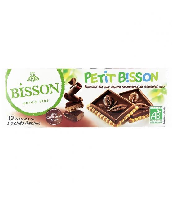BIO-Butterguetzli mit dunklem Schokoladenüberzug - 150g - Bisson