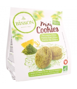 Mini cookies au matcha & citron BIO - 120g - Bisson