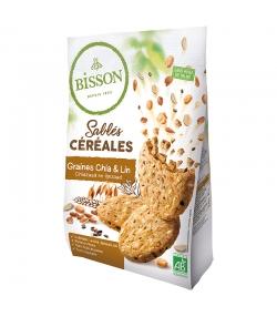 Sablés aux céréales, graines de chia & lin BIO - 200g - Bisson