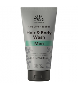 Shampooing cheveux & corps homme BIO baobab, réglisse & aloe vera - 150ml - Urtekram