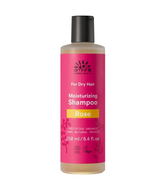 Shampooing cheveux secs BIO rose - 250ml - Urtekram