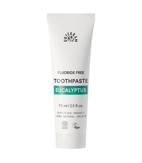 Dentifrice BIO eucalyptus sans fluor - 75ml - Urtekram