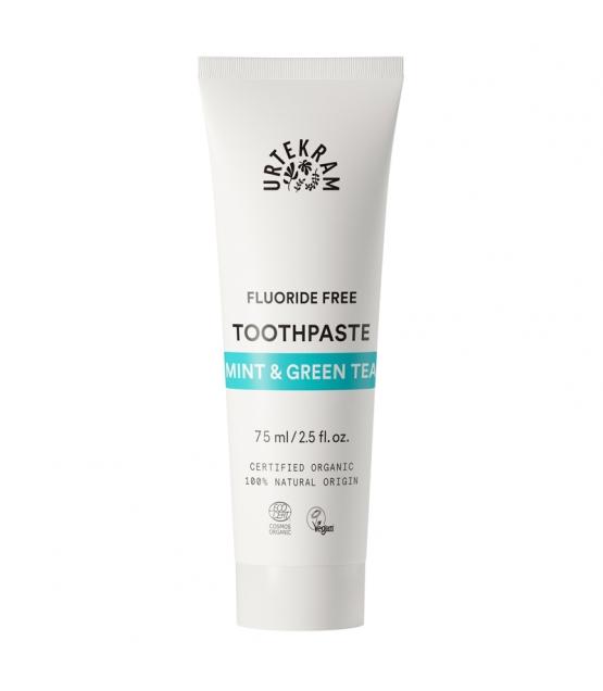 BIO-Zahncreme Minze & Grüntee ohne Fluor - 75ml - Urtekram