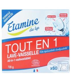 Tablettes lave-vaisselle tout en 1 écologiques sans parfum - 60 tablettes - Etamine du Lys