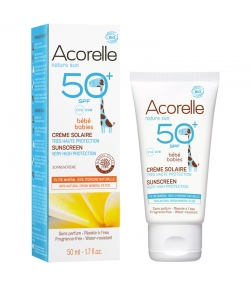 BIO-Sonnenschutzcreme Baby Körper & Gesicht LSF 50+ ohne Parfüm - 50ml - Acorelle