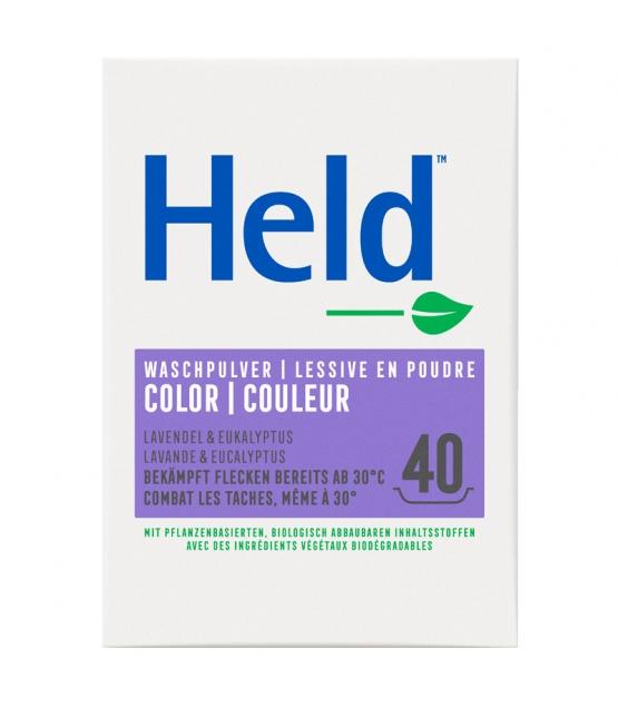 Lessive poudre écologique pour linge de couleur COLORA lavande - 40 lavages - 3kg - Held