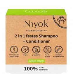 Shampooing & après-shampooing solide 2 en 1 naturel Green touch - 80g - Niyok