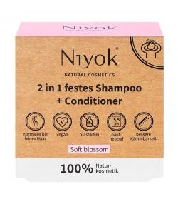 Shampooing & après-shampooing solide 2 en 1 naturel Soft blossom - 80g - Niyok
