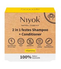 Shampooing & après-shampooing solide 2 en 1 naturel Vitamina - 80g - Niyok