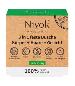 Gel douche corps, cheveux & visage solide 3 en 1 naturel Early spring - 80g - Niyok