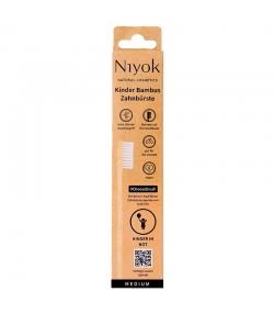 Brosse à dents enfants en bambou Beige Medium - 1 pièce - Niyok Choosebrush