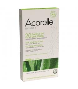 BIO-Kaltwachsstreifen Körper Epilation Aloe Vera & Bienenwachs - 20 Streifen - Acorelle