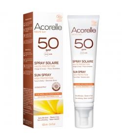 Spray solaire visage & corps BIO IP 50 sans parfum - 100ml - Acorelle